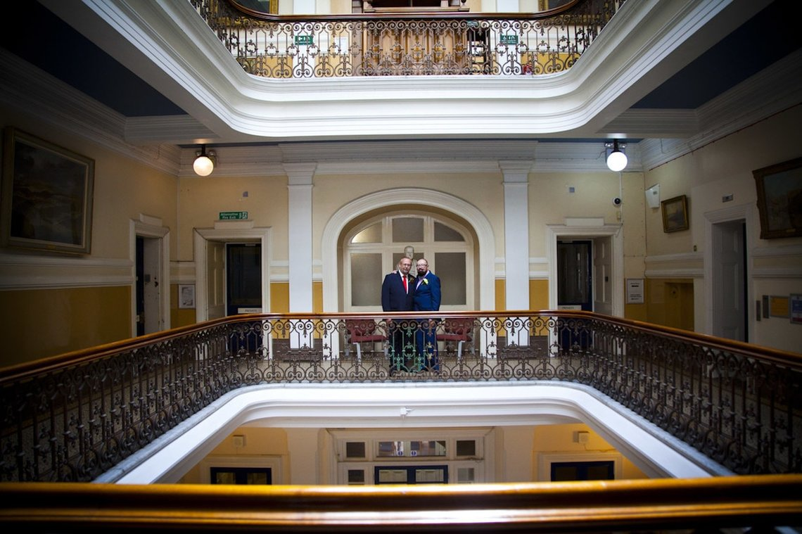 Civil Partnership Wedding Photographer Brighton Town Hall