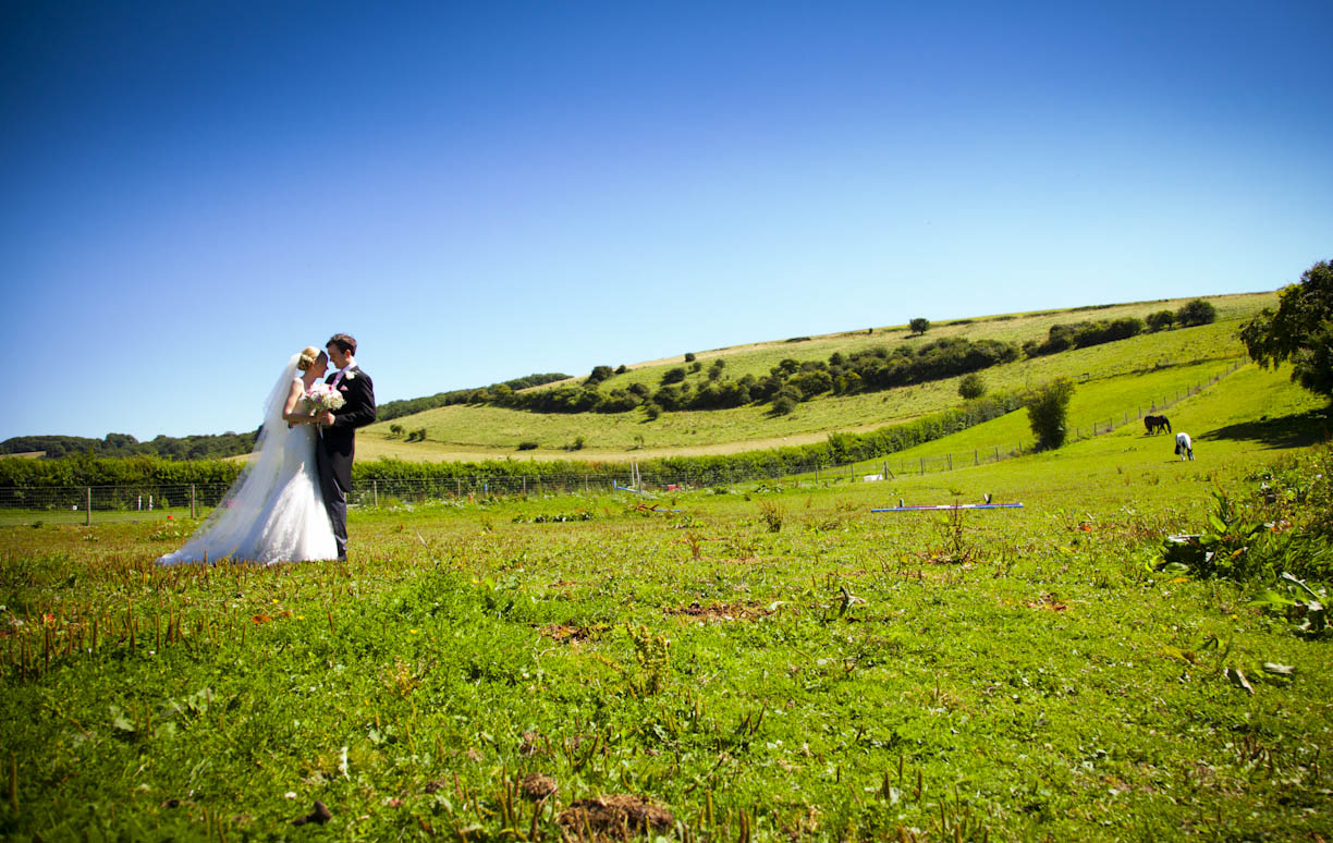Wedding photography Sussex downs